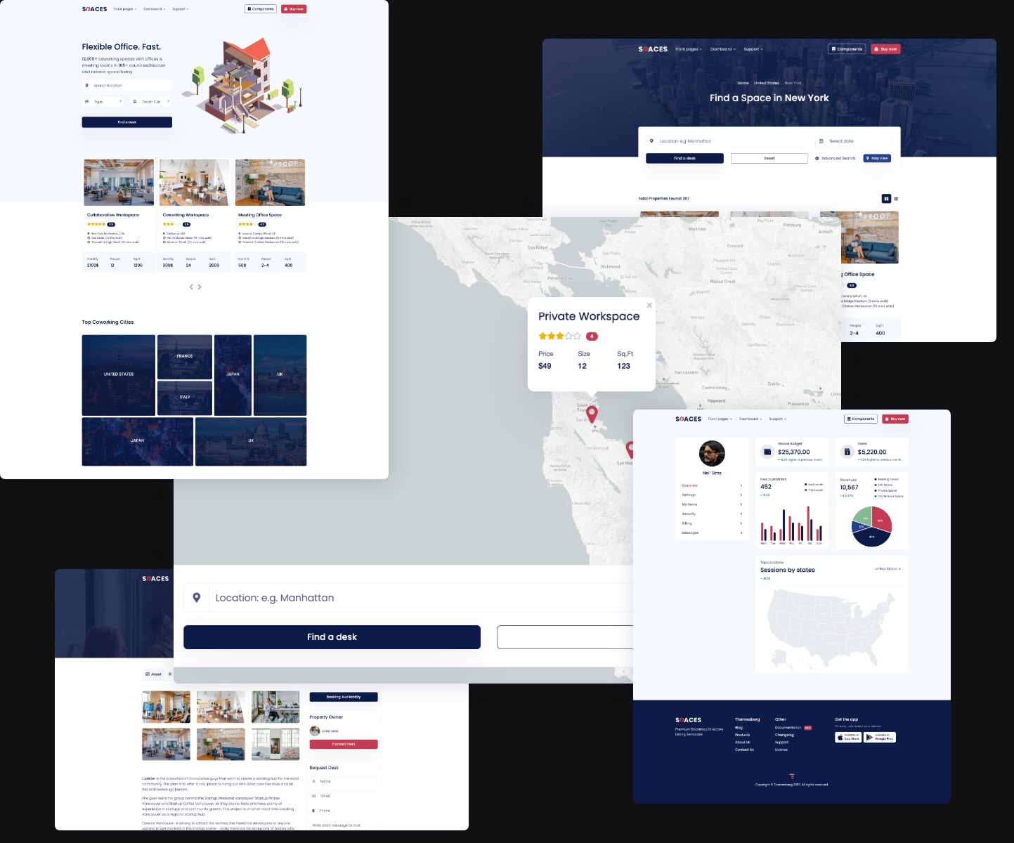 Spaces – Listing Bootstrap Template Preview