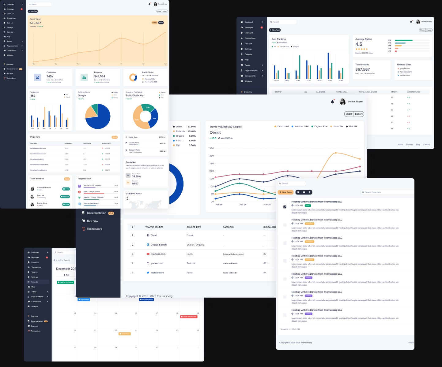 Volt Pro - Premium Bootstrap 5 Dashboard Template Preview