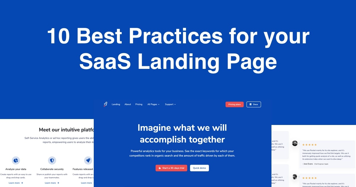 10 Best Practices for you SaaS Landing Page