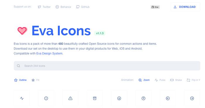 Eva Icons Free Icon Library