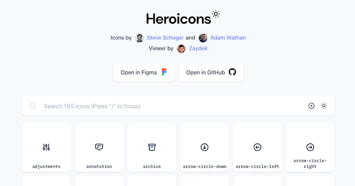 Heroicons Free Icon Library