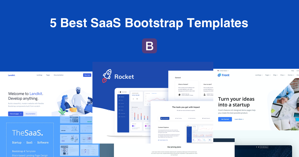 5 SaaS Bootstrap Templates for 2020 Preview