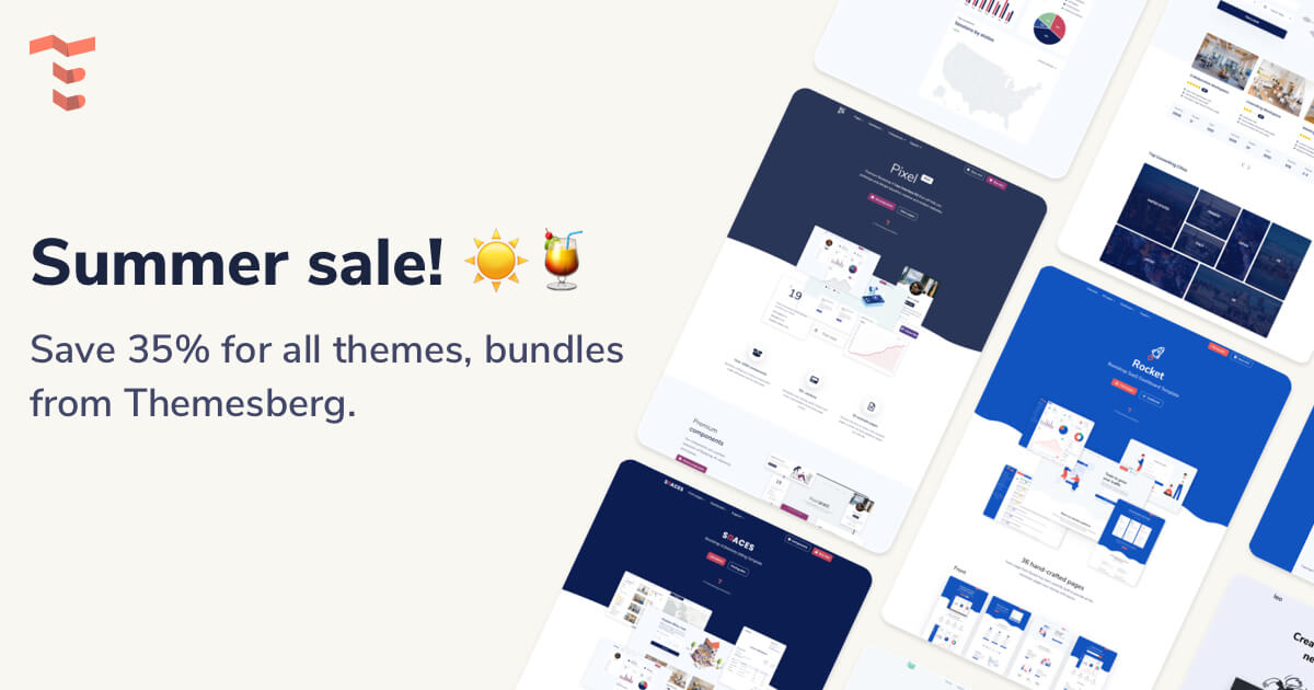 Bootstrap Themes Summer Sale