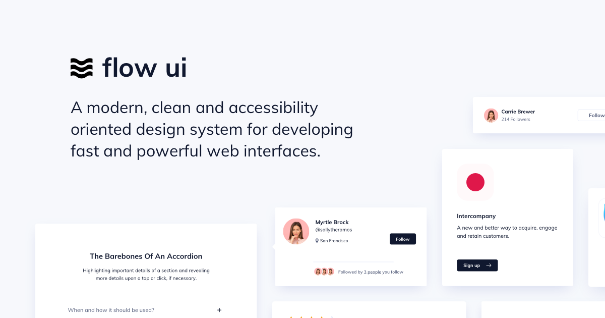 We partnered up with Ildiesign to create a accessibility oriented design system called Flow UI Preview