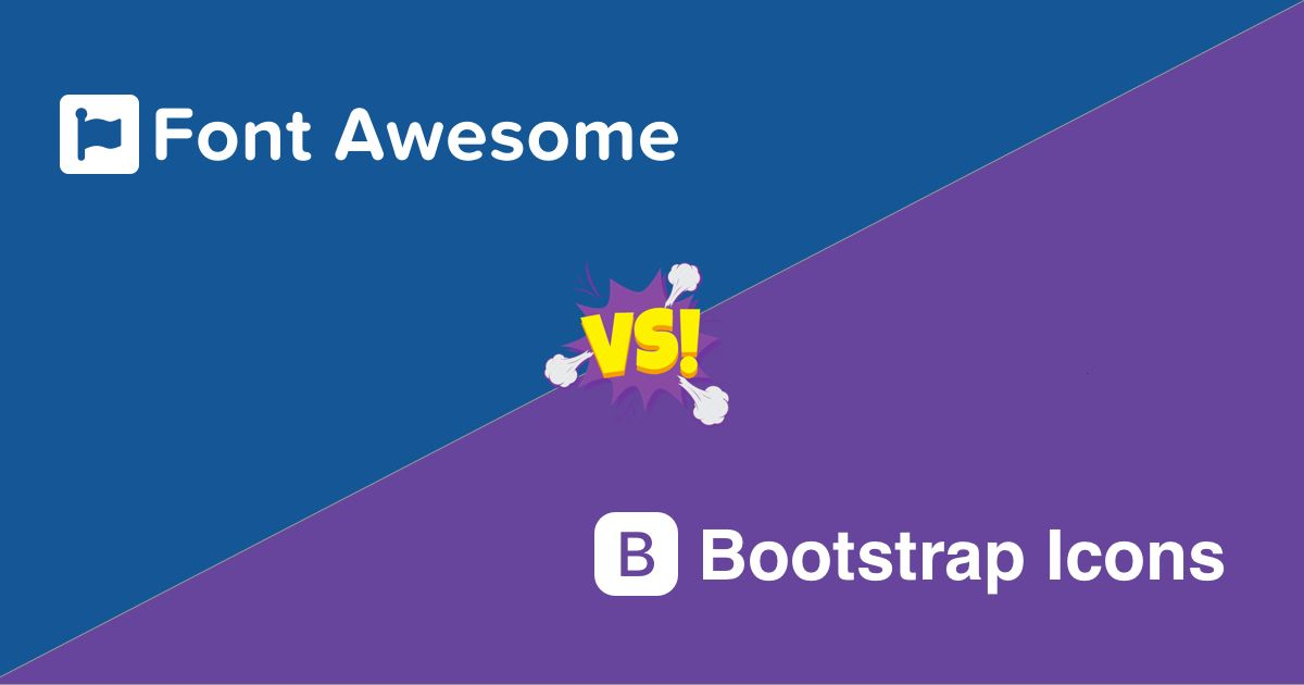 Font Awesome vs Bootstrap Icons