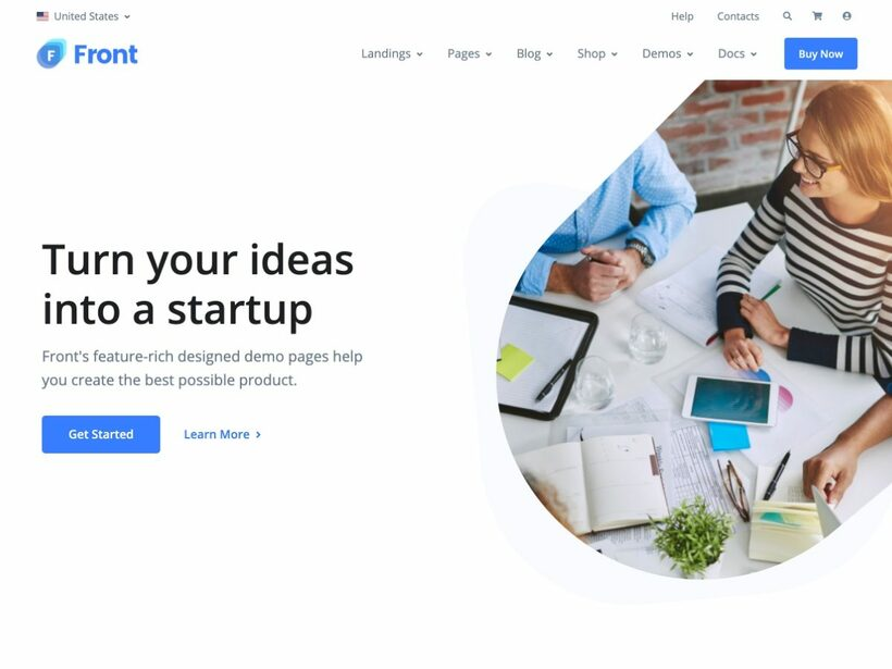 Front Bootstrap Template