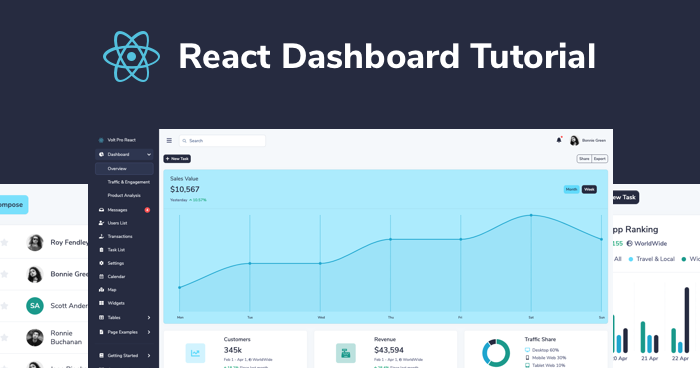 React Dashboard Tutorial