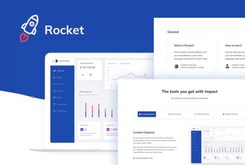 Rocket SaaS Bootstrap Template