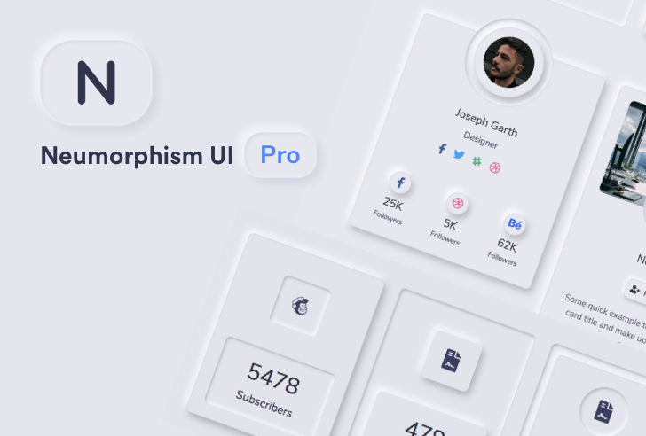 Neumorphism UI Pro Bootstrap Template