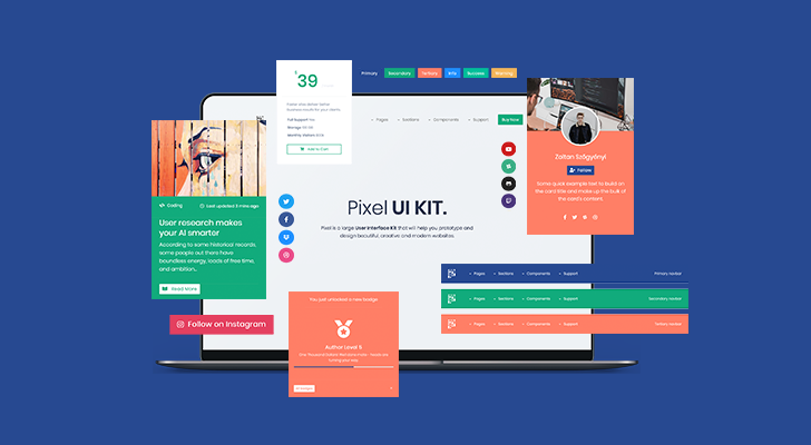 Developing and using a professional Bootstrap 4 UI Kit. What we learned and how we use it? Preview