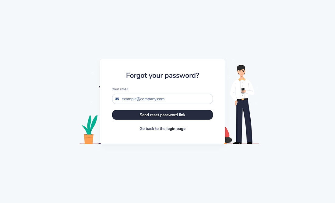 Forgot password preview